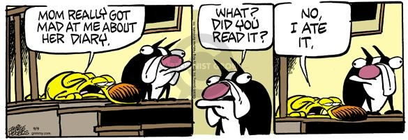 Comic Strip Mike Peters  Mother Goose and Grimm 2005-09-09 mad