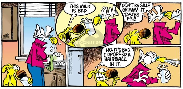 Comic Strip Mike Peters  Mother Goose and Grimm 2004-09-12 hairball