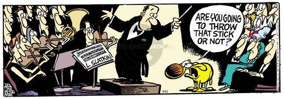 Comic Strip Mike Peters  Mother Goose and Grimm 2005-09-12 conduct