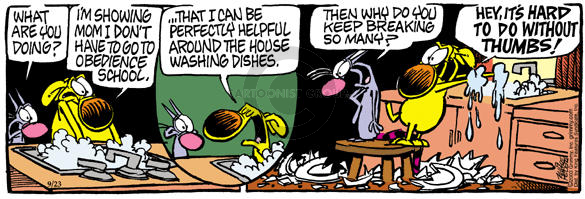 Comic Strip Mike Peters  Mother Goose and Grimm 2003-09-23 mom