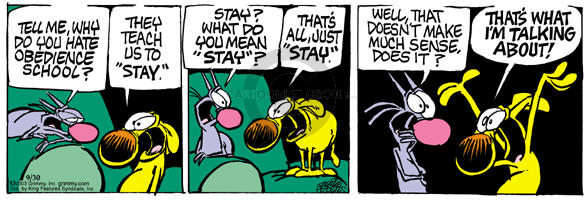 Comic Strip Mike Peters  Mother Goose and Grimm 2003-09-30 purpose