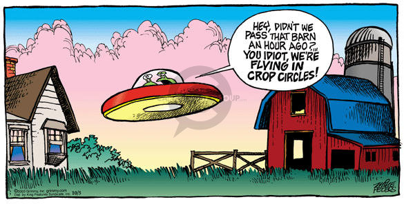 Comic Strip Mike Peters  Mother Goose and Grimm 2003-10-05 extraterrestrial