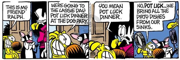 Comic Strip Mike Peters  Mother Goose and Grimm 2004-10-11 potluck