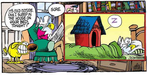 Comic Strip Mike Peters  Mother Goose and Grimm 2003-10-12 warmth