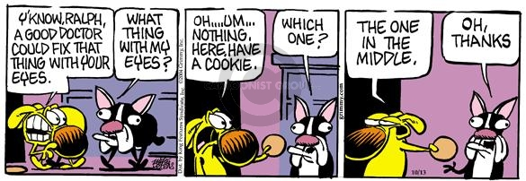 Cartoonist Mike Peters  Mother Goose and Grimm 2004-10-13 cookie