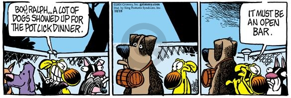 Comic Strip Mike Peters  Mother Goose and Grimm 2004-10-18 potluck