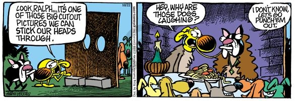 Cartoonist Mike Peters  Mother Goose and Grimm 2004-10-22 laugh