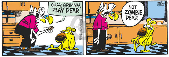 Comic Strip Mike Peters  Mother Goose and Grimm 2003-10-23 undead