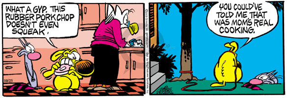 Comic Strip Mike Peters  Mother Goose and Grimm 2003-10-25 punish
