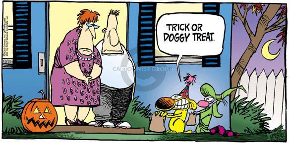 Comic Strip Mike Peters  Mother Goose and Grimm 2003-10-26 trick or treat