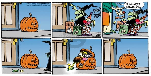 Comic Strip Mike Peters  Mother Goose and Grimm 2004-10-31 trick or treat