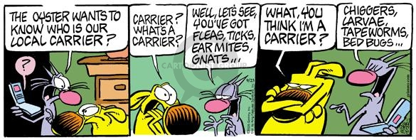 Cartoonist Mike Peters  Mother Goose and Grimm 2005-09-23 carrier