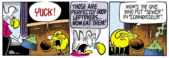 Cartoonist Mike Peters  Mother Goose and Grimm 2005-10-27 yuck