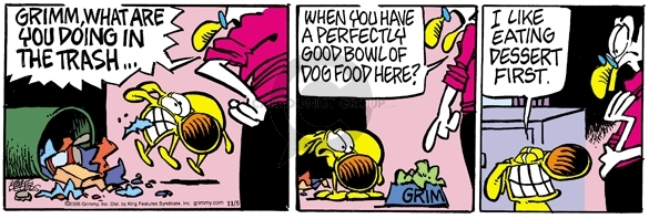 Comic Strip Mike Peters  Mother Goose and Grimm 2005-11-05 refuse