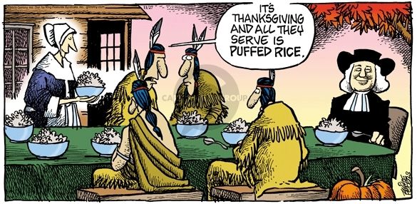 Comic Strip Mike Peters  Mother Goose and Grimm 2005-11-27 Thanksgiving