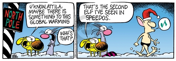 Comic Strip Mike Peters  Mother Goose and Grimm 2005-12-07 speedo
