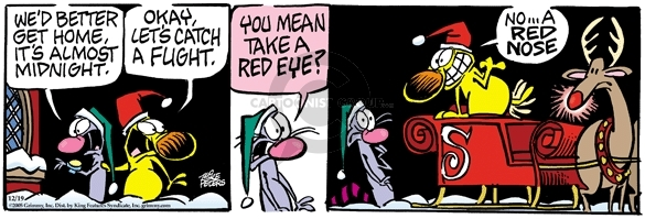 Cartoonist Mike Peters  Mother Goose and Grimm 2005-12-19 nose