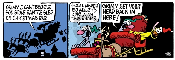 Comic Strip Mike Peters  Mother Goose and Grimm 2005-12-21 regret