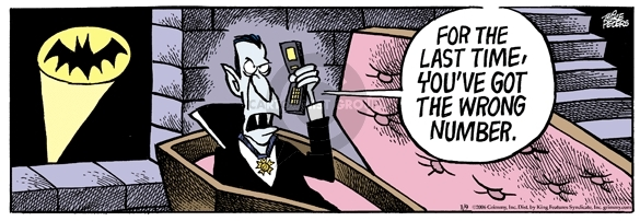 Comic Strip Mike Peters  Mother Goose and Grimm 2006-01-10 Dracula