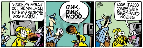 Cartoonist Mike Peters  Mother Goose and Grimm 2006-02-11 alarm