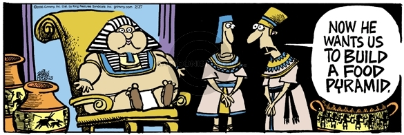 Cartoonist Mike Peters  Mother Goose and Grimm 2006-02-27 pharaoh