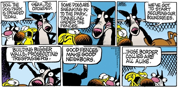 Cartoonist Mike Peters  Mother Goose and Grimm 2006-03-12 immigration