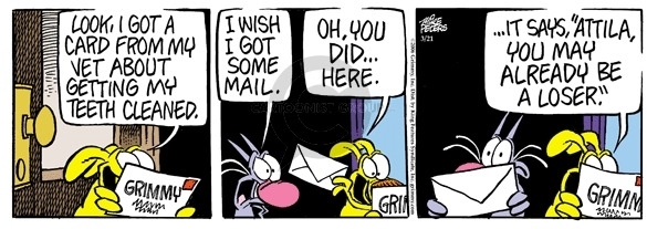 Comic Strip Mike Peters  Mother Goose and Grimm 2006-03-21 cat dog