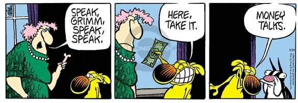 Comic Strip Mike Peters  Mother Goose and Grimm 2006-03-25 dollar