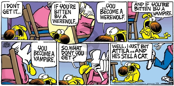 Comic Strip Mike Peters  Mother Goose and Grimm 2006-03-26 werewolf