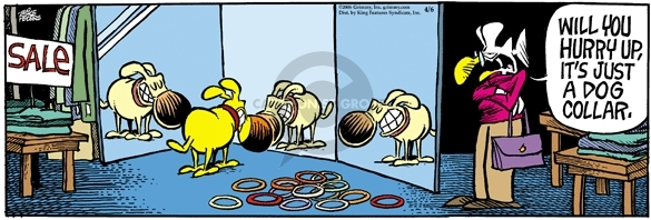 Comic Strip Mike Peters  Mother Goose and Grimm 2006-04-06 vanity
