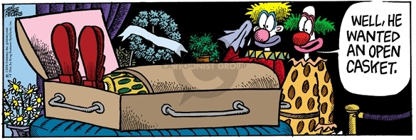 Comic Strip Mike Peters  Mother Goose and Grimm 2006-04-07 funeral
