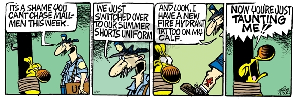 Comic Strip Mike Peters  Mother Goose and Grimm 2006-04-27 tattoo