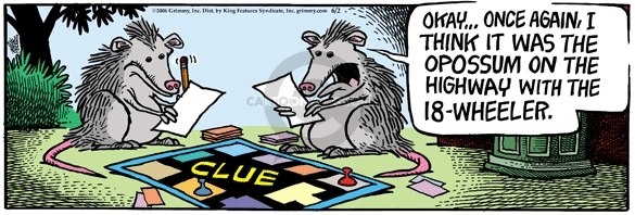 Comic Strip Mike Peters  Mother Goose and Grimm 2006-06-02 board game