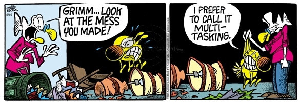 Comic Strip Mike Peters  Mother Goose and Grimm 2006-06-10 messy