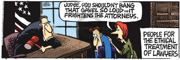 Comic Strip Mike Peters  Mother Goose and Grimm 2006-06-24 attorney