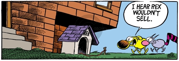 Comic Strip Mike Peters  Mother Goose and Grimm 2006-08-03 pet
