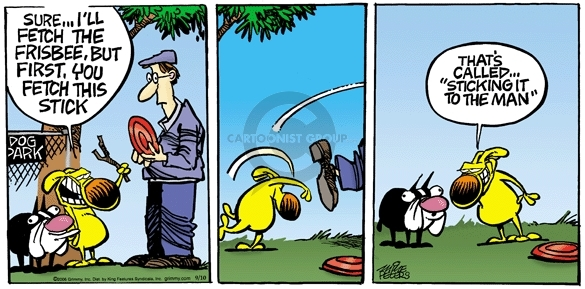 Comic Strip Mike Peters  Mother Goose and Grimm 2006-09-10 reverse