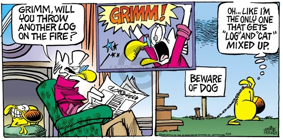 Comic Strip Mike Peters  Mother Goose and Grimm 2006-09-24 cat dog