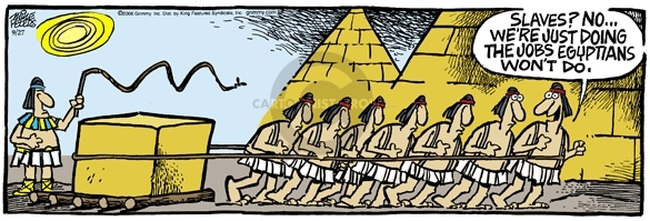 Comic Strip Mike Peters  Mother Goose and Grimm 2006-09-27 Egyptian Pyramid