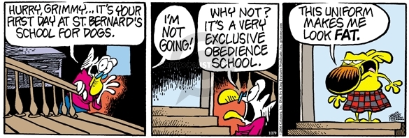 Comic Strip Mike Peters  Mother Goose and Grimm 2006-10-09 school clothes