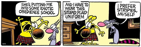 Comic Strip Mike Peters  Mother Goose and Grimm 2006-10-11 school clothes