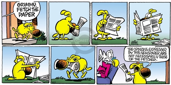 Comic Strip Mike Peters  Mother Goose and Grimm 2006-10-15 column