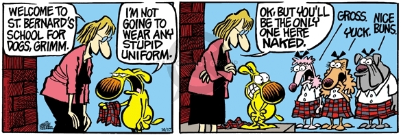 Cartoonist Mike Peters  Mother Goose and Grimm 2006-10-17 yuck