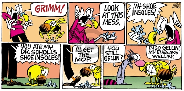 Comic Strip Mike Peters  Mother Goose and Grimm 2006-11-12 messy