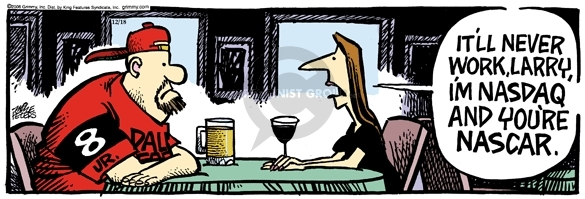 Comic Strip Mike Peters  Mother Goose and Grimm 2006-12-18 wine