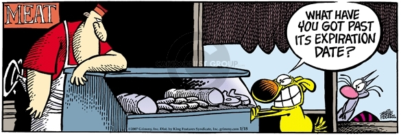 Comic Strip Mike Peters  Mother Goose and Grimm 2007-01-18 expiration date