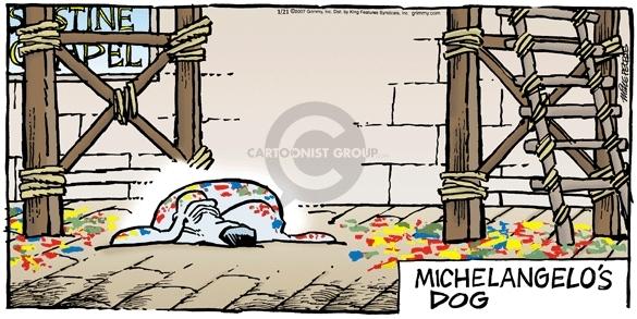 Sistine Chapel.  Michelangelos Dog.
