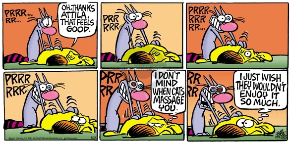 Comic Strip Mike Peters  Mother Goose and Grimm 2007-01-28 purr