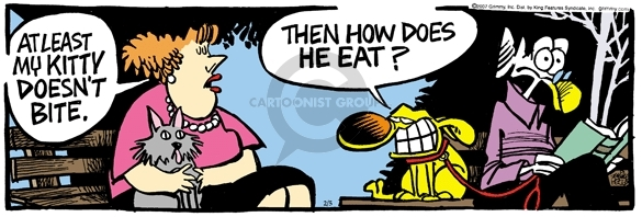Comic Strip Mike Peters  Mother Goose and Grimm 2007-02-05 dog and cat