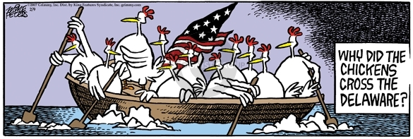 Comic Strip Mike Peters  Mother Goose and Grimm 2007-02-09 crossing Delaware